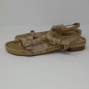 Stuart Weitzman Snakeskin Woven Sandal
